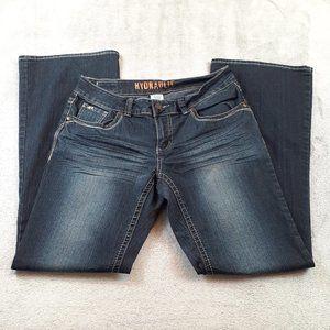 Hydraulic Dark Wash Bootcut Jeans Stretch Size 10